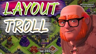 Layout troll -zoeira sem fim - Clash of clans
