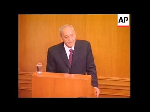 Parliament re-elects pro-Syrian Nabih Berri as speaker