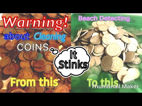Cleaning Coins after Beach Detecting with Tim Davies (Must Watch) 2018 The Money Pot Australia 🇦🇺