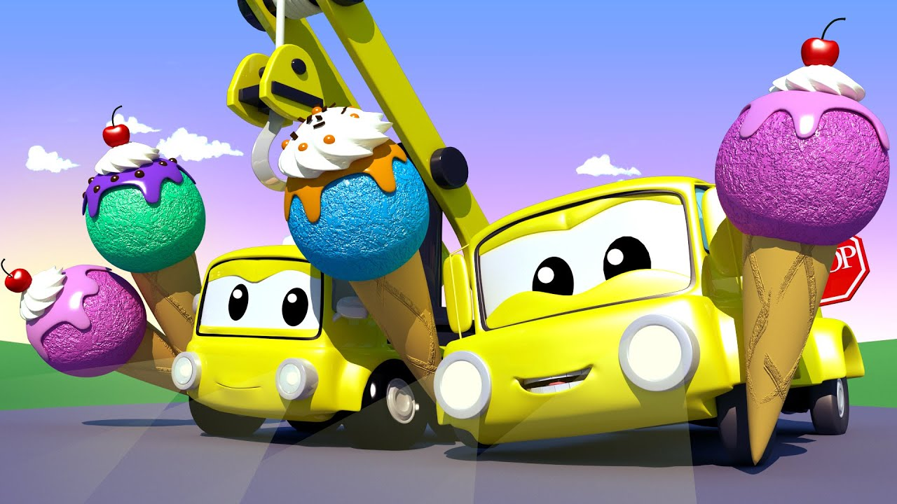 Kids car cartoon - ICE CREAM with the Baby Cars in Car City! - Cartoon for kids - Car City !