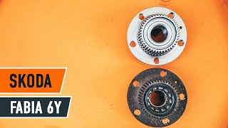 How to replace Hub bearing on SKODA FABIA Combi (6Y5) - video tutorial