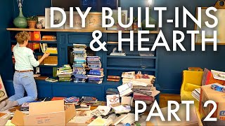 DIY ELECTRIC FIREPLACE HEARTH + BUILT INS : Adventuring Family of 11