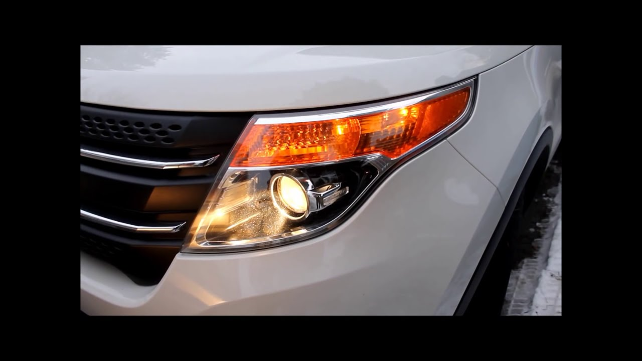 How To Replace  Ford Explorer Headlight Bulb