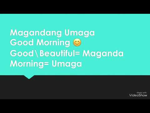 How To Say Greeting In Tagalogfilipino Youtube