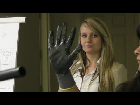Work gloves tests - hidden camera – industrial spying on dry, wet and oil grip research