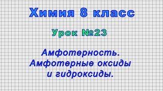 Химия 8 класс (Урок 23 - Амфотерность. Амфотерные оксиды и гидроксиды.)