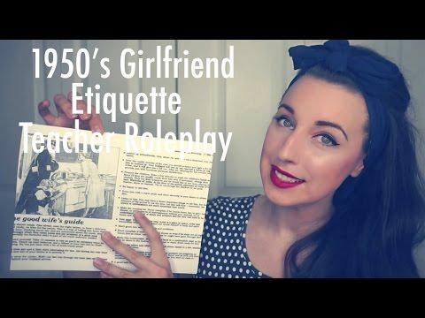 ASMR 1950's Girlfriend/Wife Etiquette Teacher Role-play