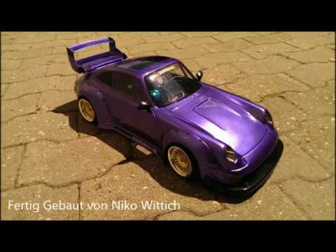 rc 1 10 porsche rwd wide body tunning karosserie drift. Black Bedroom Furniture Sets. Home Design Ideas
