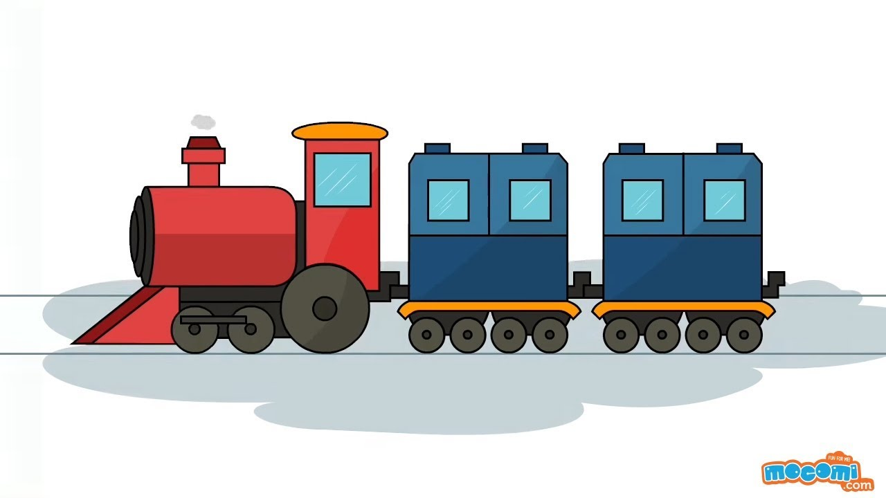 How To Draw A Train Learn Step By Step Drawing For Kids