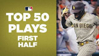 Top 50 Plays oḟ the First Half! (2021 MLB Highlights)   Ft. Shohei Ohtani, Fernando Tatis Jr. + more