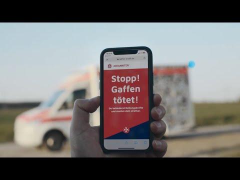 Download QR-Code auf Fahrzeugen und Ausrüstung: Johanniter wehren sich kreativ gegen Gaffer