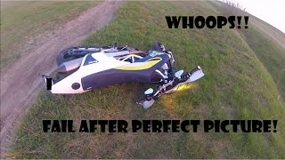 What We Do For A Good Picture! Supermoto Fail! Stupid And Funny!!