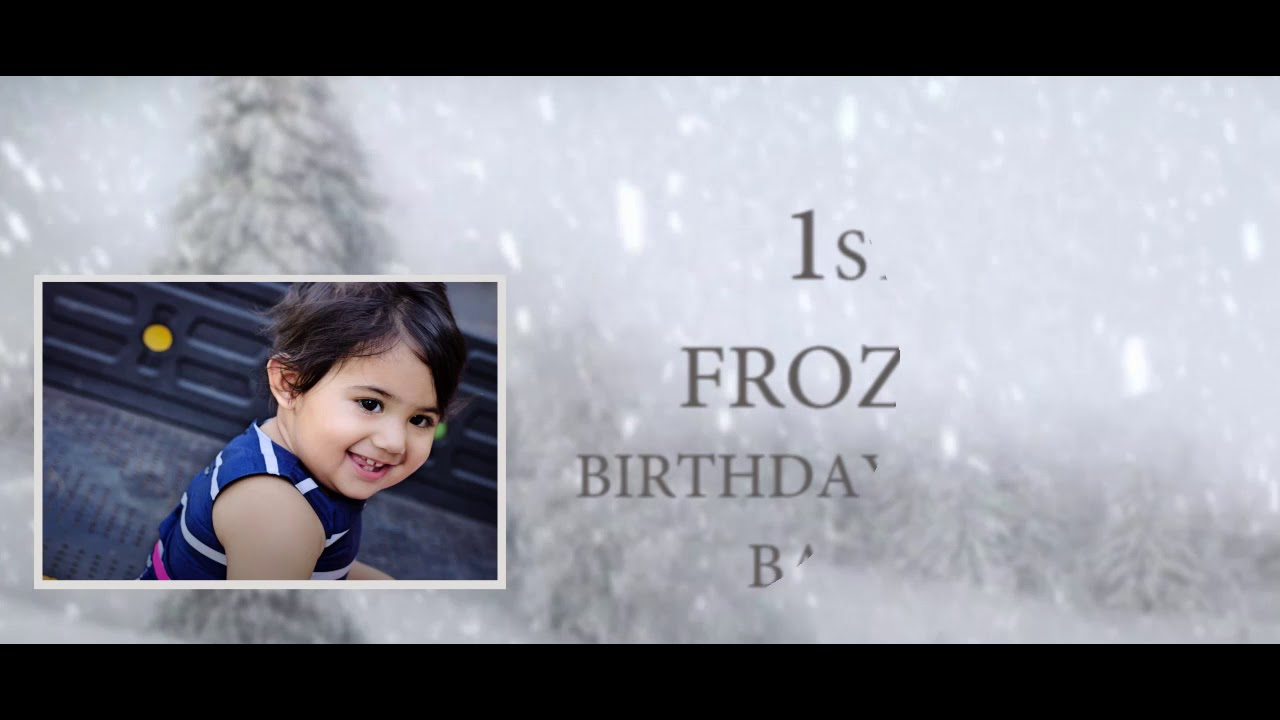 MY first birthday invitation YouTube
