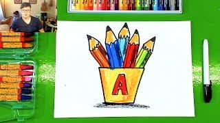 Урок рисования для детей / Рисуем цветные карандаши / рисунки для детей