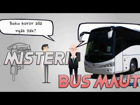 Cerita bus maut animasi horor | Misteri Bus Hantu viral!!
