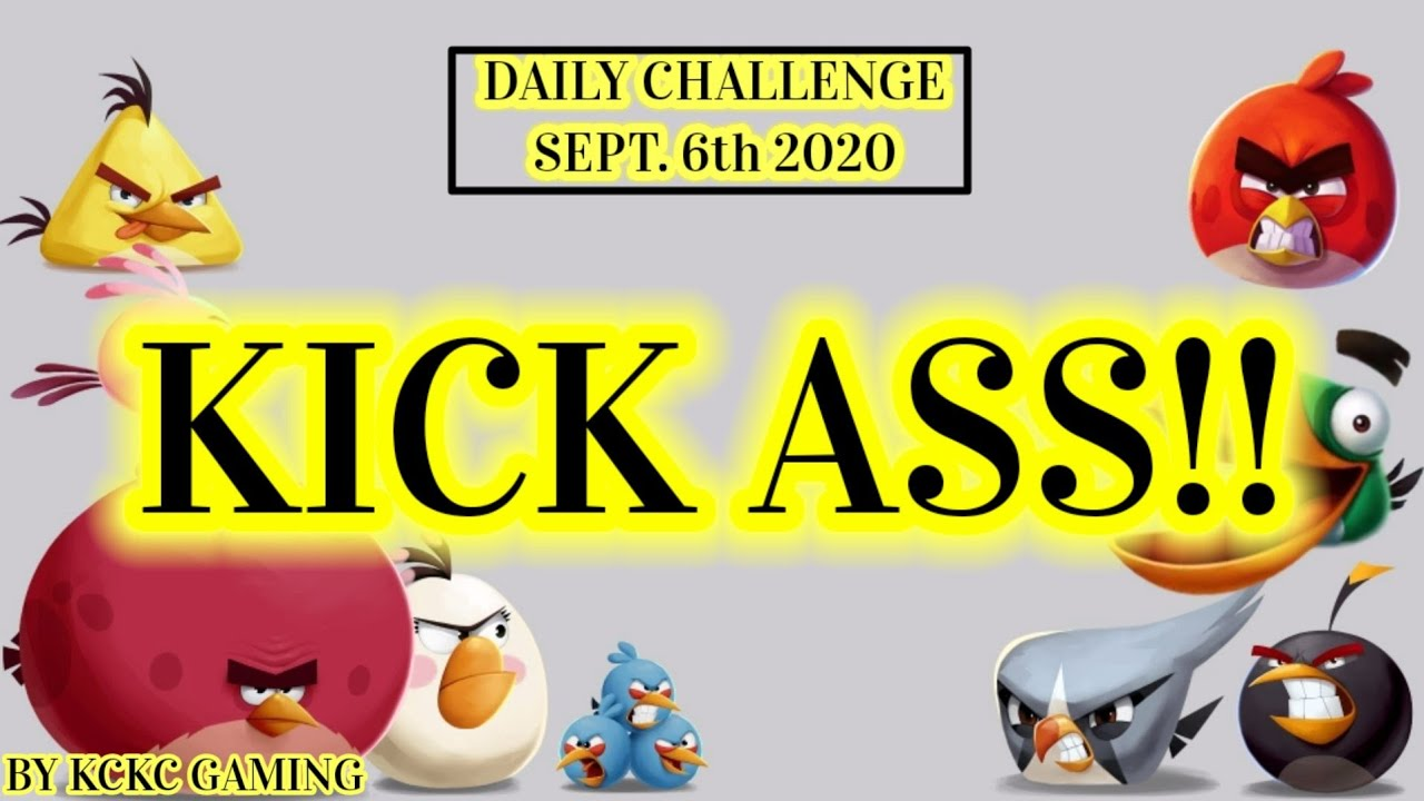 ANGRY BIRDS 2 DAILY CHALLENGE Sept 6 2020 KING PIG PANIC CRUSHED!! - YouTube