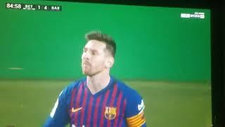 Golazo de Lionel messi gol messi barcelona vs Real betis