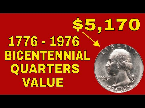 1976 Bicentennial Quarters Value! 1976 Washington Bicentennial  Quarters Worth Money!