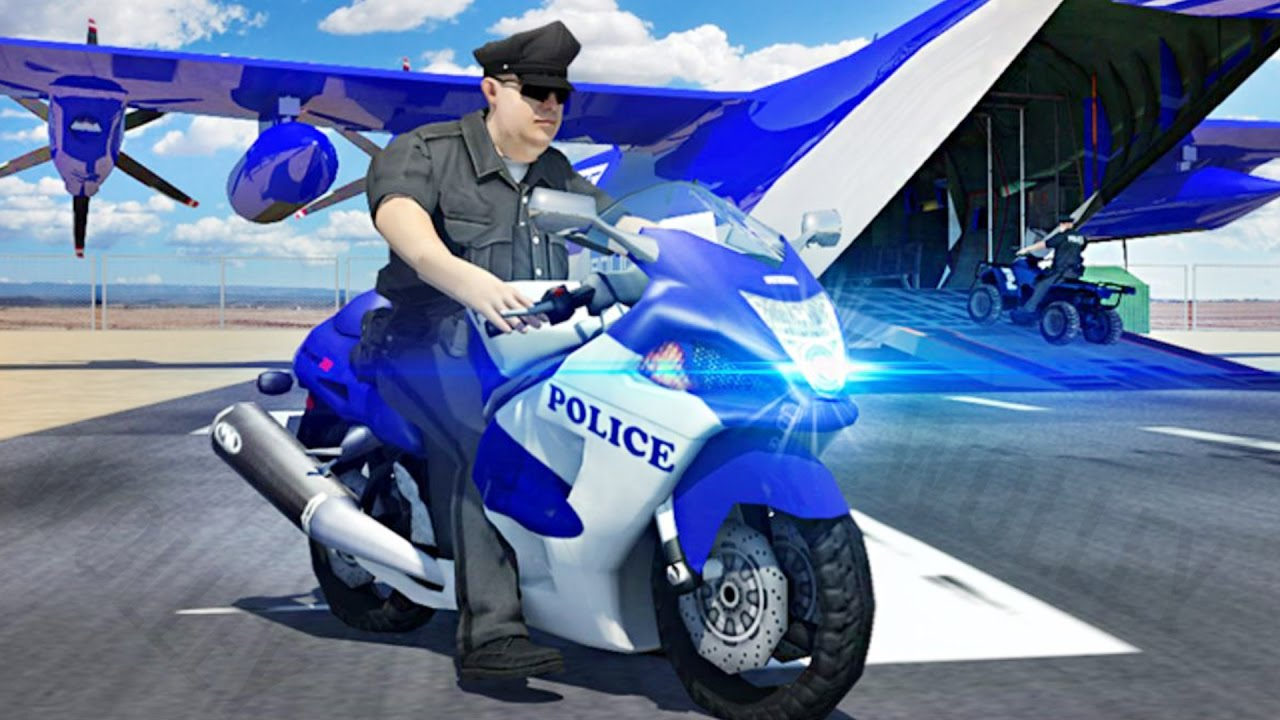 Police Airplane Moto Transport Bike   Android Gameplay HD | Police Games  For Kids By Slash Studios   YouTube