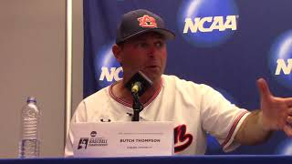 Auburn's Butch Thompson Talks Win, Heading To Game 3