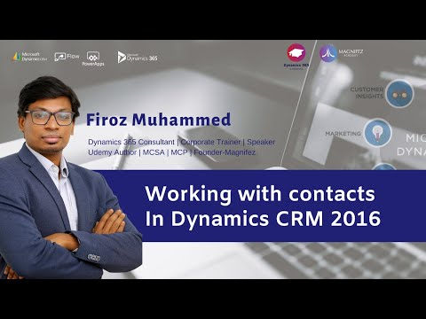 Contacts in Dynamics CRM 2016 | Basic | Dynamics CRM Training