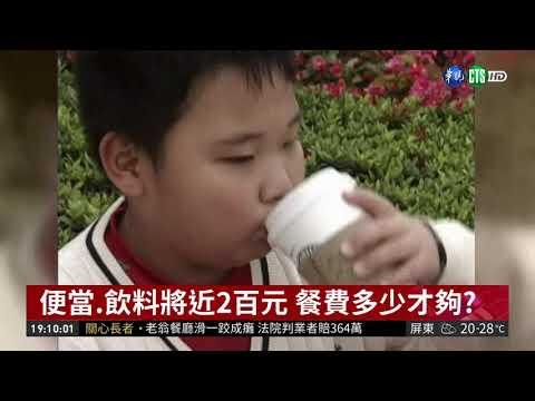 國中生餐費該給多少? 掀網路論戰| 華視新聞 20190107