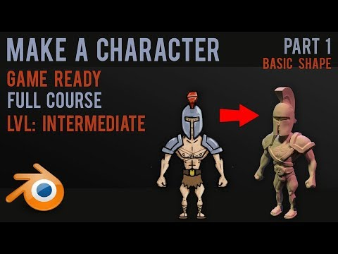 Character modelling tutorial - sculpting and texturing - part 1 - 2018