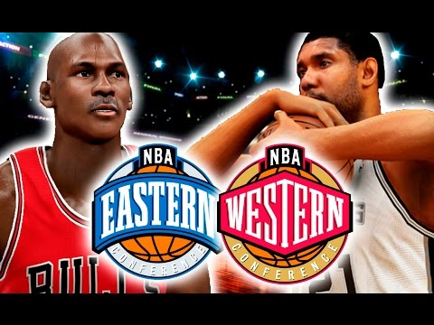 All Time Eastern Conference Team VS All Time Western Conference Team | NBA 2K17 Challenge