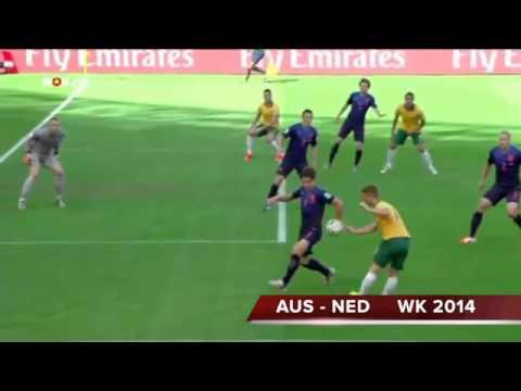 Australië   Nederland 2  3 WK 2014 Jack van Gelder wordt weer helemaal gek!!!! nederland spanje
