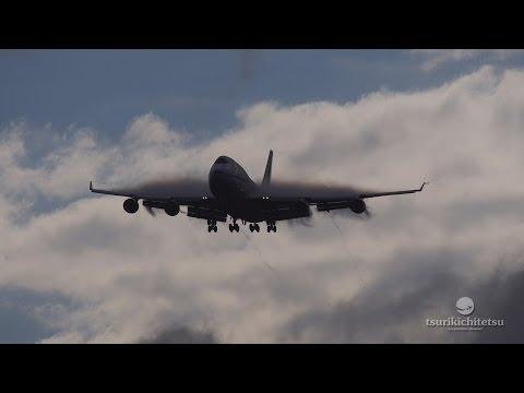 再生70万回突破!!  超絶!** すごい着陸動画 Air China Cargo Boeing 747 400F@Narita Rwy34L