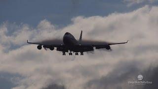 超絶!** すごい着陸動画 Air China Cargo Boeing 747 400F@Narita Rwy34L