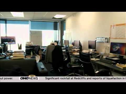 News room during Christchurch Earthquake (23-Dec-2011)