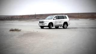 Новый Toyota Land Cruiser 200 - 2016 тест-драйв и обзор на озере Баскунчак
