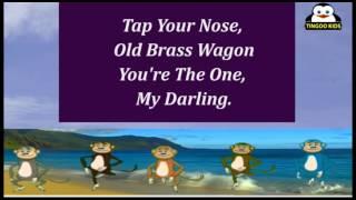 OLD BRASS WAGON | Nursery Rhymes | Karaoke Songs By TingooKids