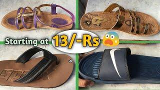 Branded slippers and Chappal wholesale market, Inderlok, Delhi