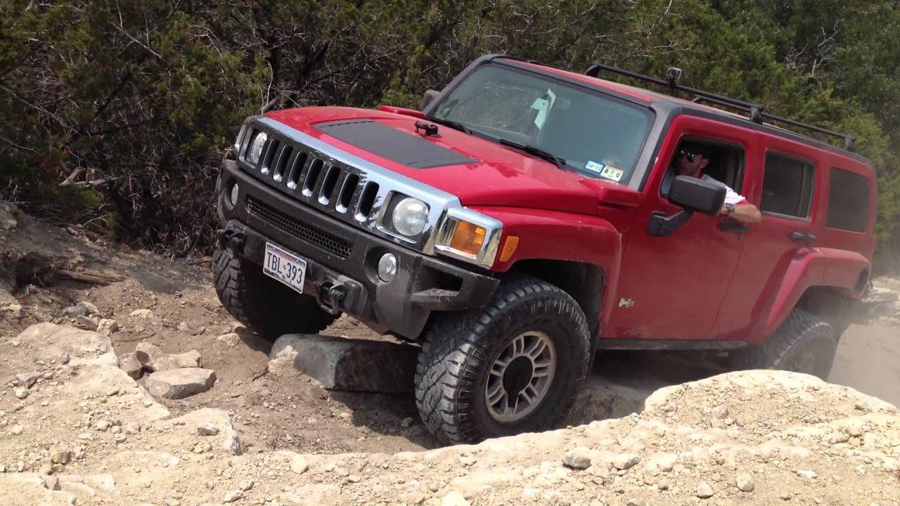 Hidden Falls Park TX Hummer H3 35 wheels