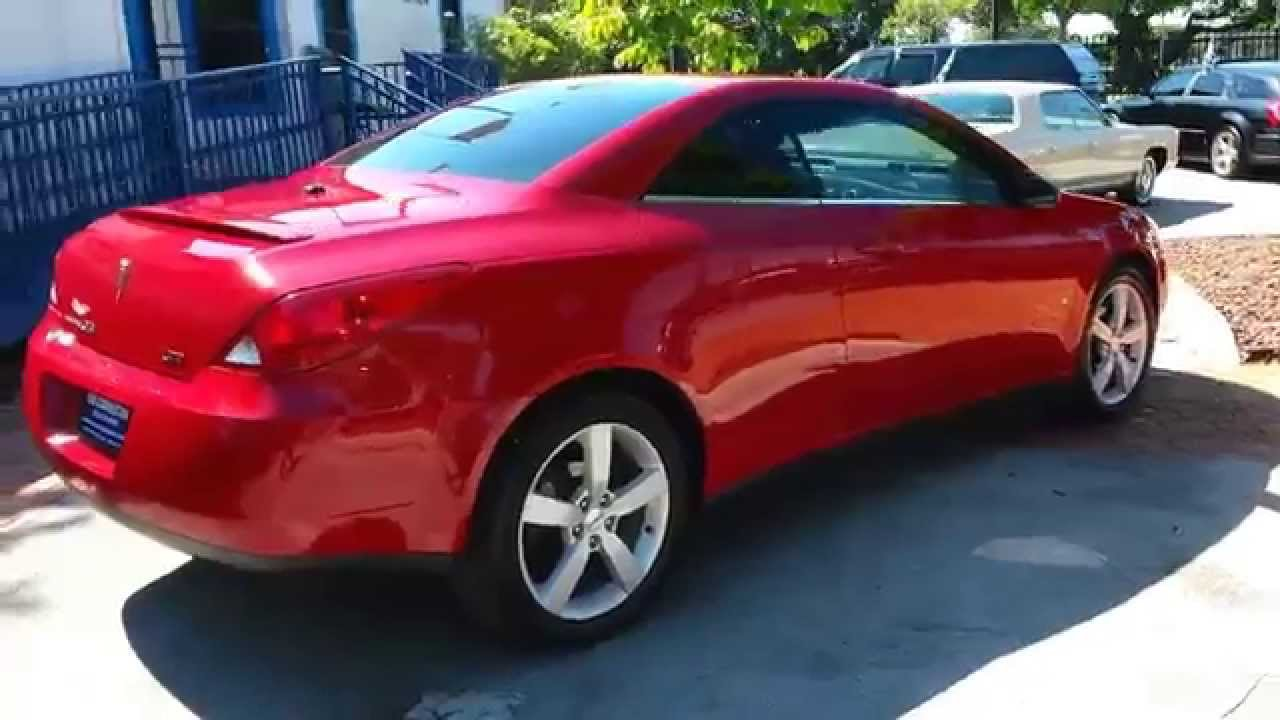 2007 Pontiac G6 Gt Convertible Karconnectioninc Miami Fl