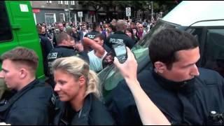 Polizeigewalt während des Ausnahmezustandes in Berlin Kreuzberg