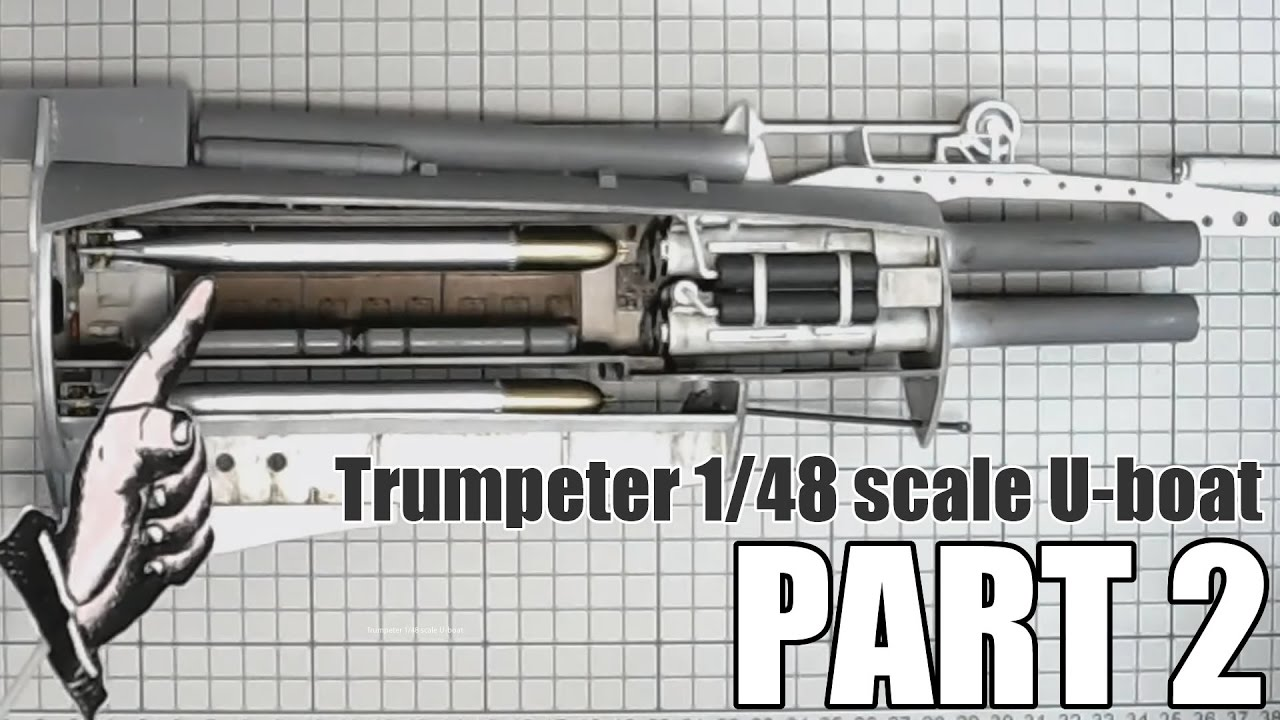 trumpeter 1/48 dkm u-boat type viic u-552 (wwii) # 06801 part 2