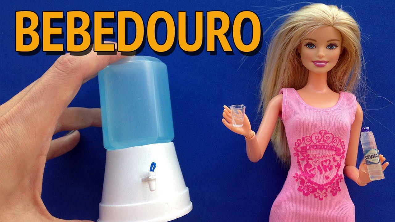 Como Fazer Bebedourofiltro De água Para Barbie E Outras Bonecas