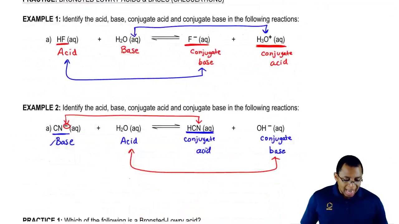 Bronsted Lowry Acids and Bases: Example 2