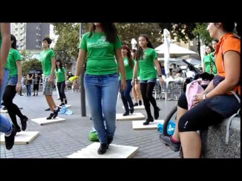 Saint Patrick's Day flash mob in Santiago, Chile