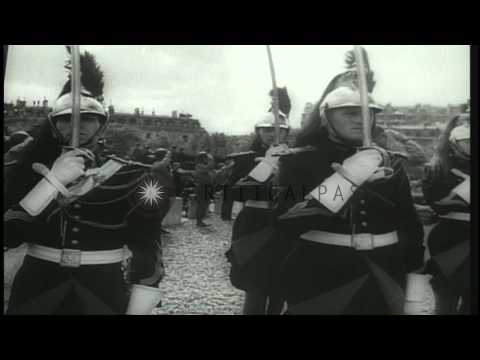 US General Dwight D Eisenhower celebrates the Liberation of Paris at the restored...HD Stock Footage