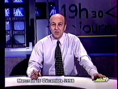 Aqui TV périgord - JT du 16.12.98 de Robert Potier + pub + météo + Ciné magazine