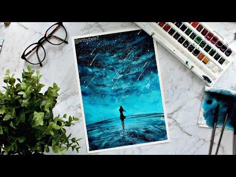Watercolor Painting 'Water Walking'