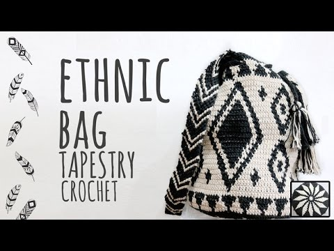 Tutorial Ethnic Crochet Bag Tapestry Technique