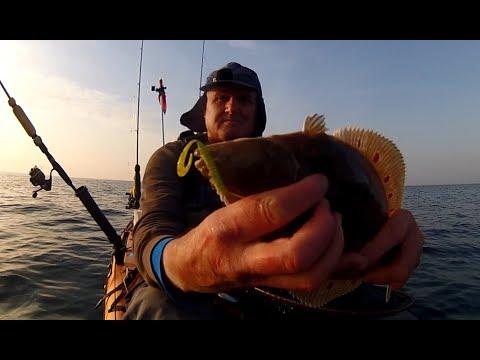 Kayak Fishing - LURE Fishing For PLAICE (Flatfish) - Rig And Lures