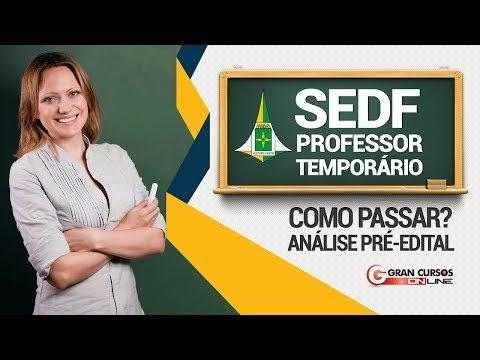 Como Passar? Pré-Edital SEDF Professor Temporário
