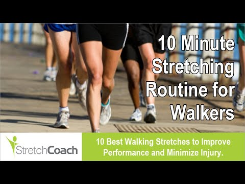 Best Walking Stretches, Walking Stretching Routine, Flexibility Program for Walkers