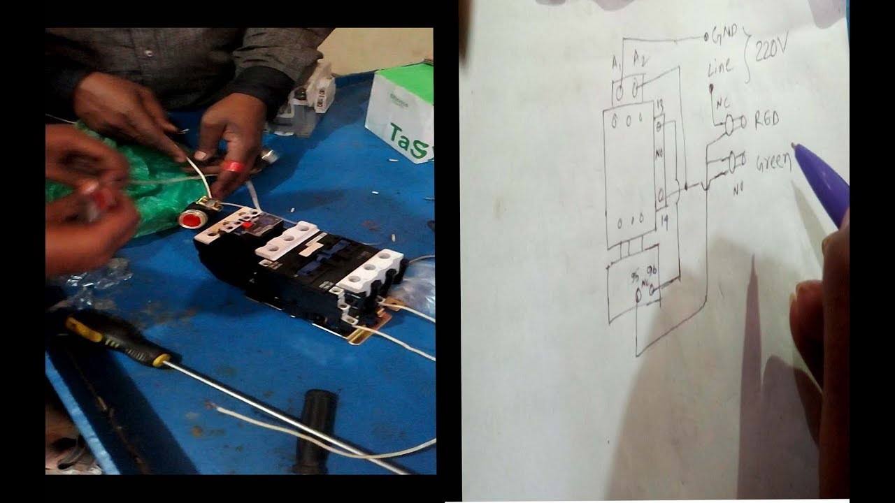 How To Wire A Magnetic Contactor And Overload